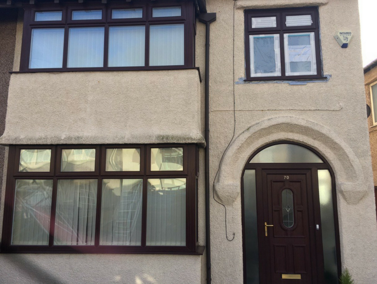 Brown uPVC Front of House
